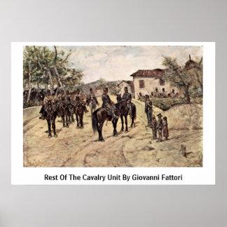 Rest Of The Cavalry Unit By Giovanni Fattori Posters