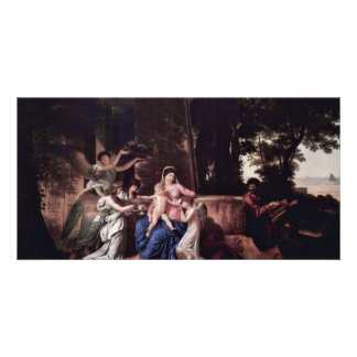 Rest Of The Holy Family In Egypt By Gauffier Louis Photo Greeting Card