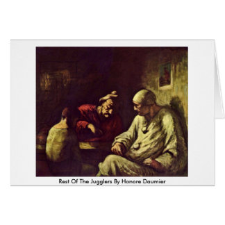 Rest Of The Jugglers By Honore Daumier Greeting Card