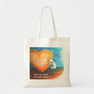 Rest on God's Heart tote bag