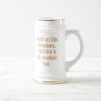 Rest on His promises Beer Stein