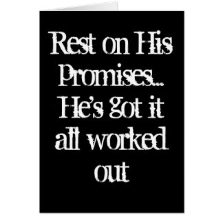 Rest on His promises Card