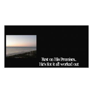 Rest on His promises Photo Greeting Card