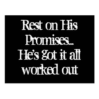 Rest on His promises Post Cards