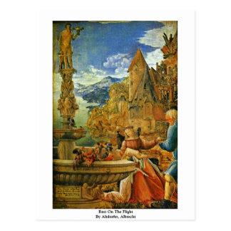 Rest On The Flight By Altdorfer, Albrecht Postcard