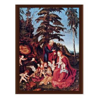 Rest On The Flight By Cranach D. Ä. Lucas (Best Qu Postcard