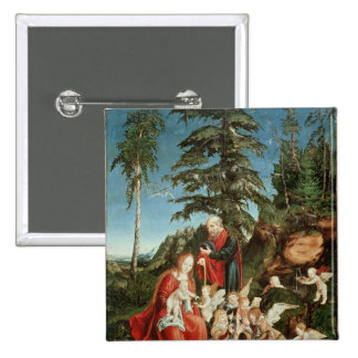 Rest on the Flight into Egypt, 1504 Pinback Button