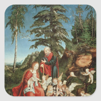 Rest on the Flight into Egypt, 1504 Square Sticker