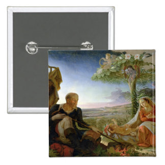 Rest on the Flight into Egypt, 1805-6 Button