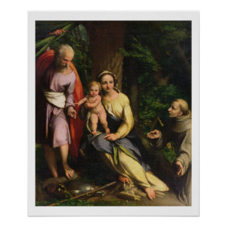 Rest on the Flight into Egypt, c.1515 (oil on canv Poster