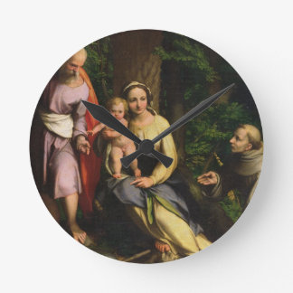 Rest on the Flight into Egypt, c.1515 (oil on canv Round Clock