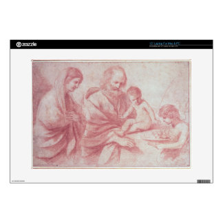 Rest on the Flight into Egypt (red chalk on paper) Decals For Laptops