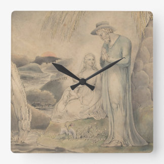 Rest on the Flight into Egypt Square Wall Clock