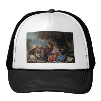 Rest on the Flight to Egypt by Giovanni Tiepolo Mesh Hats