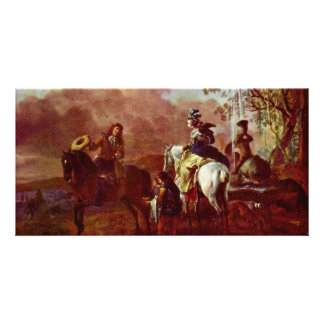Rest On The Hawking Detail By Philips Wouwerman Photo Card