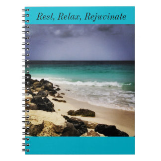 Rest, Relax, and Rejuvenate Spiral Notebook