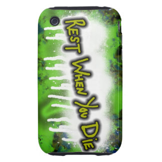 Rest When You Die Tough iPhone 3 Cover