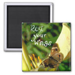 Rest Your Wings 2 Inch Square Magnet