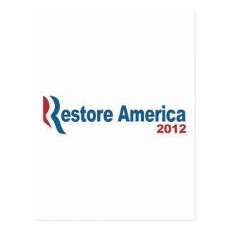 Restablecimiento América 2012 Postal