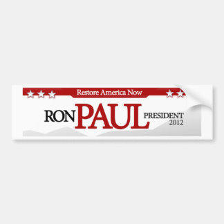 Restablecimiento América ahora Pegatina De Parachoque
