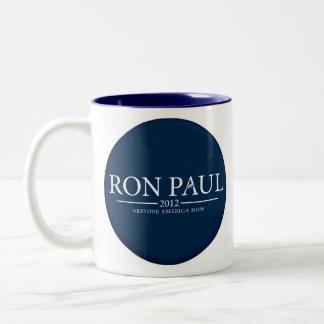 RESTABLECIMIENTO AMÉRICA AHORA CUP/MUG DE RON PAUL TAZA