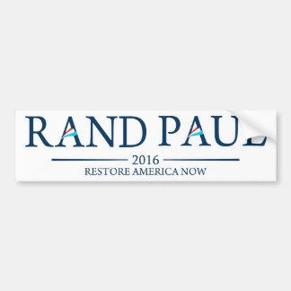 Restablecimiento América de Paul 2016 del rand aho Pegatina De Parachoque