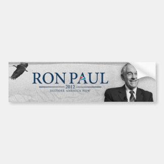 RESTABLECIMIENTO AMÉRICA de Ron Paul 2012 AHORA Pegatina Para Auto