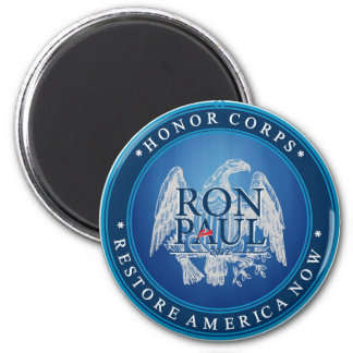 Restablecimiento América de Ron Paul ahora Imán Redondo 5 Cm