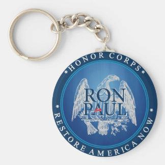Restablecimiento América de Ron Paul ahora Llavero Redondo Tipo Pin
