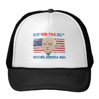 Restablecimiento América de Ron Paul Gorros Bordados