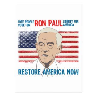 Restablecimiento América de Ron Paul Postal