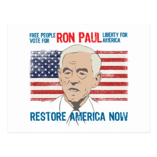 Restablecimiento América de Ron Paul Postales