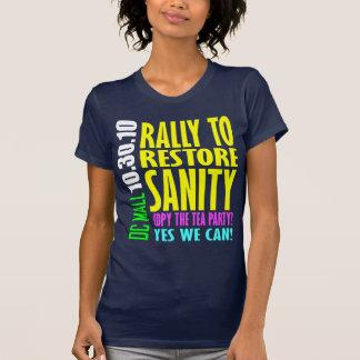 Restablecimiento Sannity - 10.30.10 Camisetas