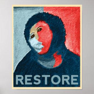 RESTABLECIMIENTO - señora española Art Restoration Póster