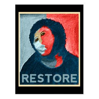 RESTABLECIMIENTO - señora española Art Restoration Tarjetas Postales