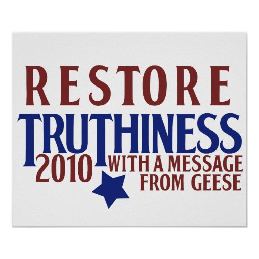 Restablecimiento Truthiness Posters