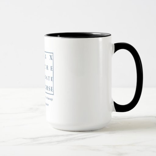 Restablezca la taza de café Triple-r