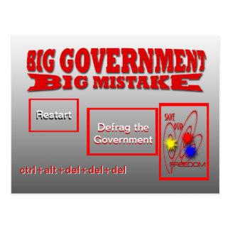 Restart defrag government save our freedom postcard