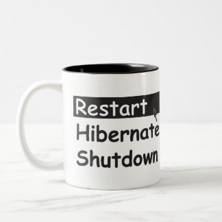 Restart Two-Tone Coffee Mug