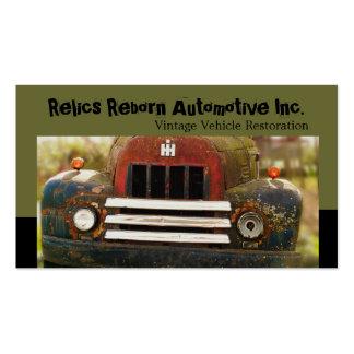 Restauración antigua del automóvil del vintage tarjetas de visita