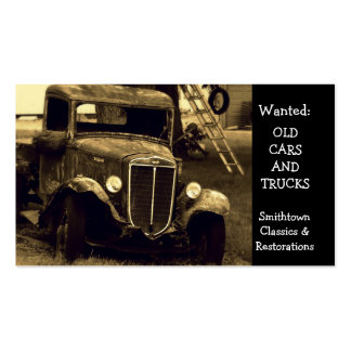 Restauración antigua del automóvil del vintage plantillas de tarjeta de negocio