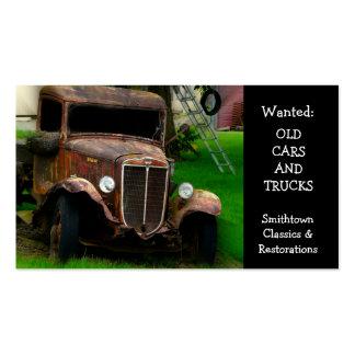 Restauración antigua del automóvil del vintage plantillas de tarjetas personales