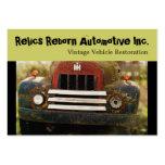 Restauración antigua del automóvil del vintage tarjeta de negocio