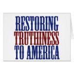 Restauración de Truthiness a América Felicitación