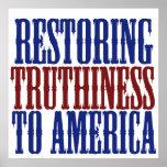 Restauración de Truthiness a América Poster