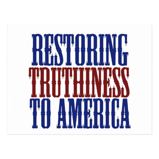 Restauración de Truthiness a América Tarjetas Postales