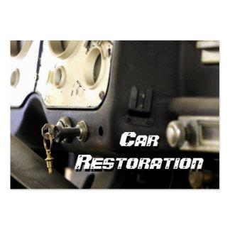 Restauración del coche plantillas de tarjeta de negocio