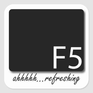 Restauración F5 Pegatina Cuadrada