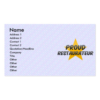 Restaurador orgulloso tarjetas de visita