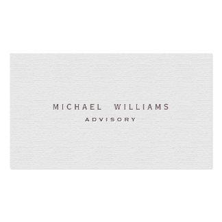 Restaurador - Profesional elegante blanco Tarjetas De Visita